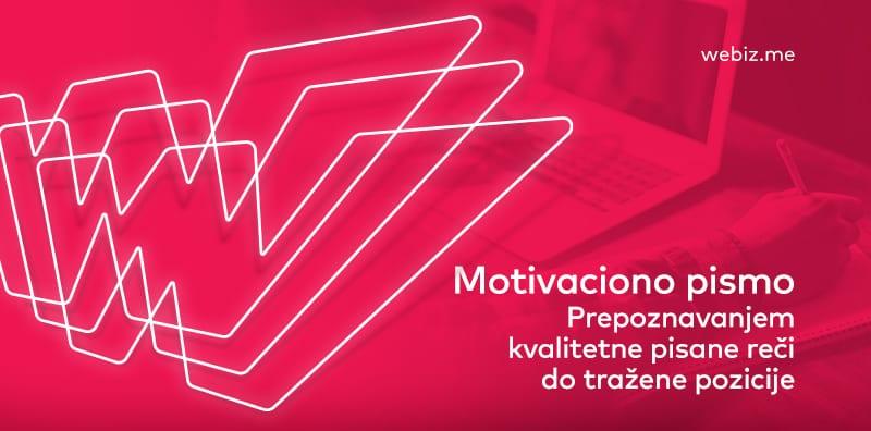 motivaciono pismo - cover image - webiz